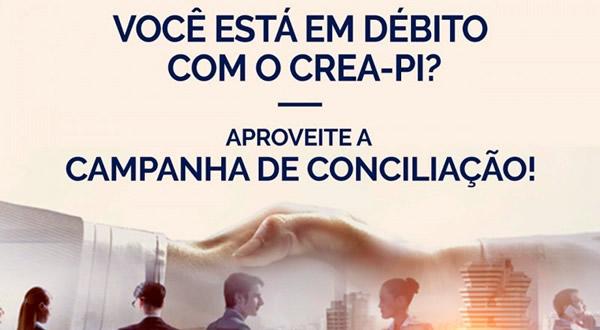 CREA-PI promove Campanha de Conciliação em outubro