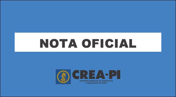 CREA-PI impugna edital da Secretaria Municipal de Administração de Teresina.