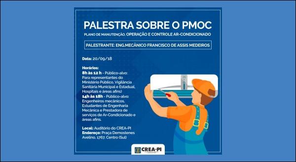 PMOC será tema de palestra no Crea-PI