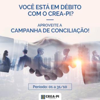 Campanha de Conciliação do Crea-PI segue até quarta-feira