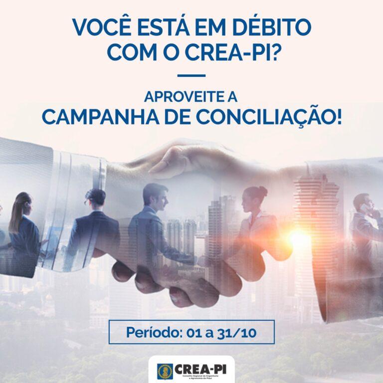 CREA-PI lança Campanha de Conciliação com descontos de até 90% sobre juros e multas