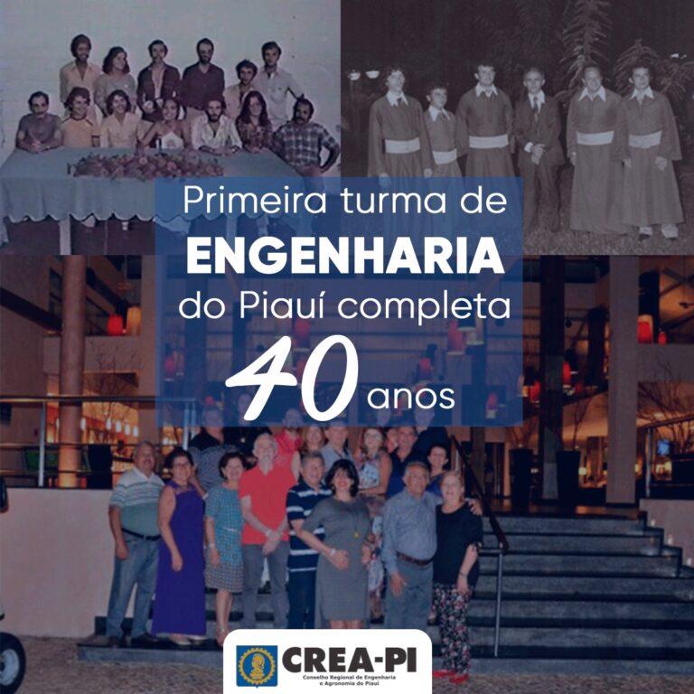 Primeira turma de Engenharia do Piauí comemora 40 anos