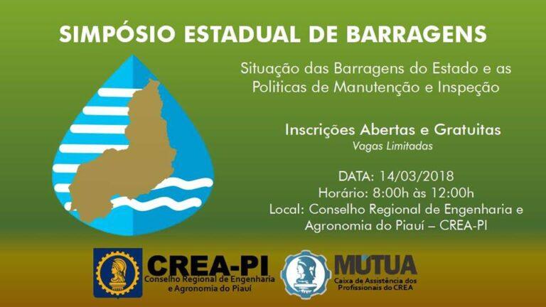 CREA-PI realizará Simpósio Estadual de Barragens do Piauí; se inscreva