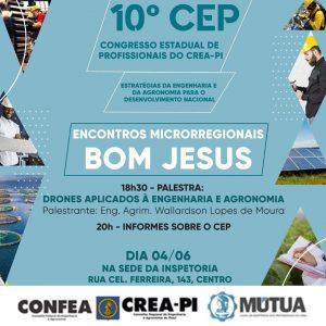 Crea-PI promove Encontro Microrregional do 10º CEP em Bom Jesus