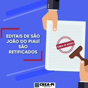 Editais de São João do Piauí são retificados