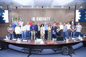 Conselheira do Crea-PI e Coordenadora Adjunta das Câmaras Especializadas de Engenharia de Agrimensura participa de reunião no Confea