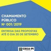 Crea-PI publica Chamamento Público para parcerias e apoio financeiro às entidades de classe