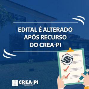 Edital é alterado após recurso do Crea-PI.