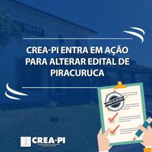 Crea-PI entra com ação para alterar edital de Piracuruca