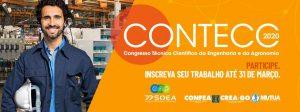 Trabalhos para o Contecc 2020 podem ser enviados até 31 de março