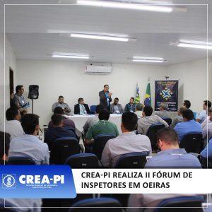 Crea-PI realiza II Fórum de Inspetores em Oeiras