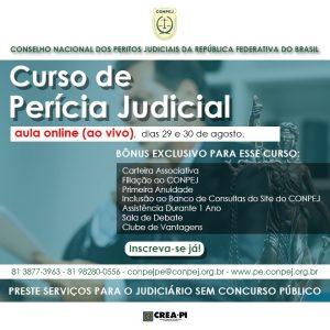 Conselho Nacional dos Peritos Judiciais da República Federativa do Brasil realiza mais um curso de perícia.