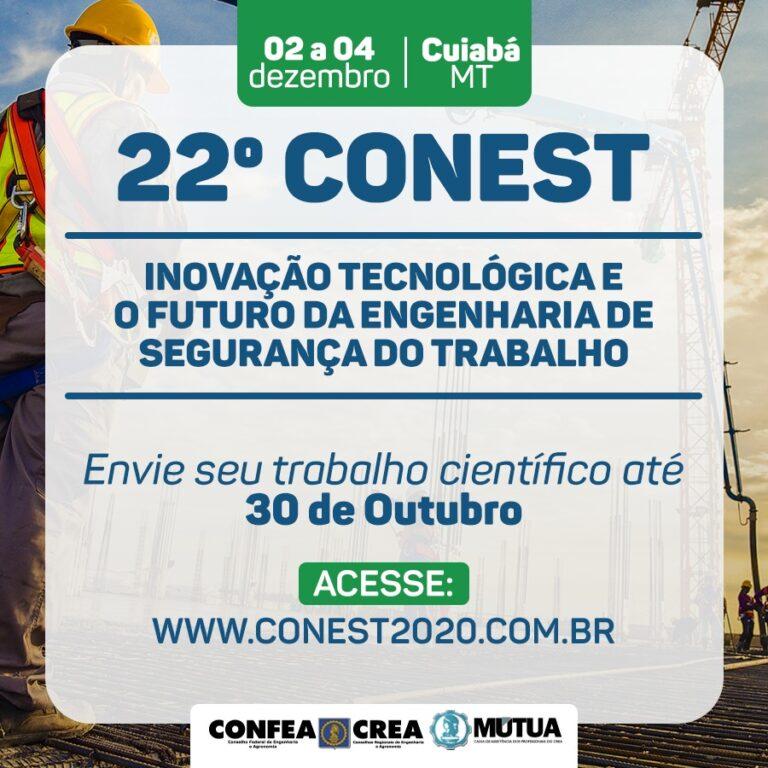Conest recebe trabalhos científicos até 30 de outubro