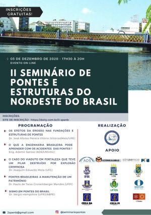 Inscrições abertas para o II Seminário de Pontes e Estruturas do Nordeste do Brasil