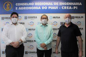Presidente do Crea-PI recebe visita do superintendente da Fadex para tratar sobre futuras parcerias