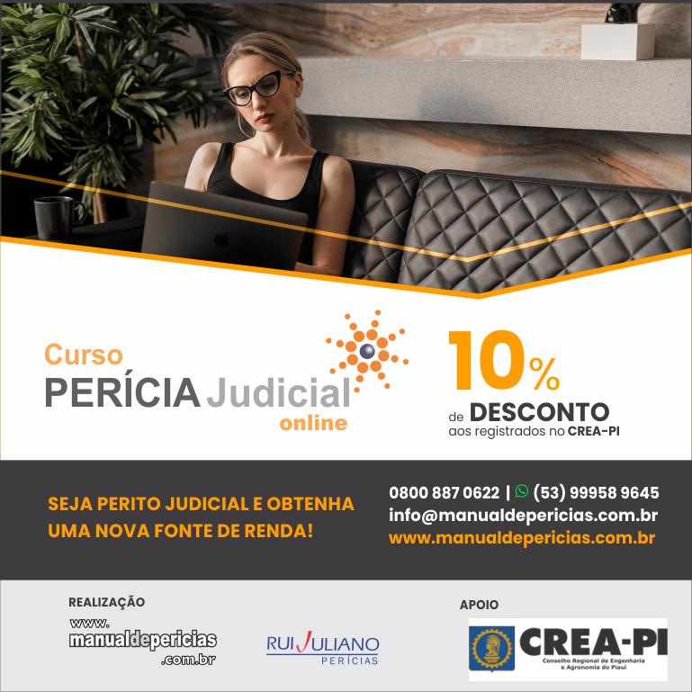 Seja Perito Judicial– Curso com 10% de desconto