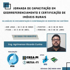 Apeag promove jornada de capacitação em Georreferenciamento e Certificação de Imóveis Rurais
