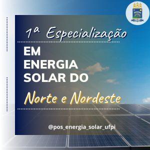Edital de seleção para a Pós-Graduação em Energia Solar