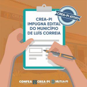 Crea-PI impugna Edital do município de Luís Correia