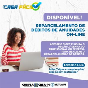 Crea-PI lança programa de reparcelamento de débitos de anuidades on-line