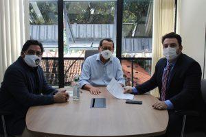 Banco Teresinense de Materiais de Construção é tema de reunião entre o presidente do Crea-PI e o vereador Markim Costa