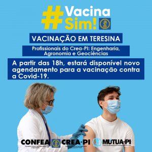 Covid-19: A partir das 18h, estará disponível novo agendamento para a vacinação em Teresina